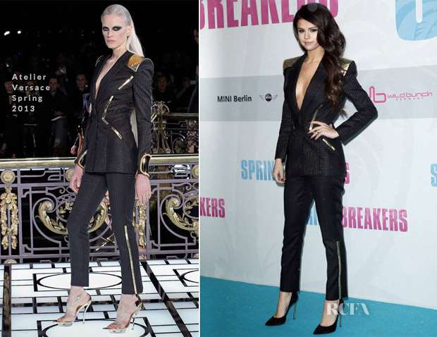 Selena Gomez In Atelier Versace - 'Spring Breakers' Germany Premiere