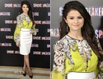 Selena Gomez In Blumarine - 'Spring Breakers' Madrid Photocall