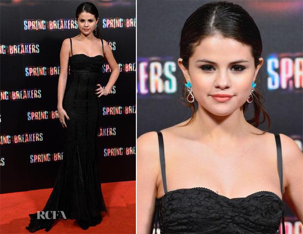 Selena Gomez In Dolce & Gabbana - 'Spring Breakers' Madrid Premiere