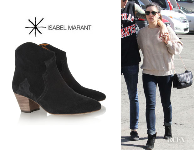 Shenae Grimes' Isabel Marant 'Dicker' Ankle Boots