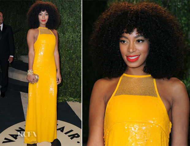 Solange Knowles In Emilio Pucci - 2013 Vanity Fair Party