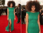 Solange Knowles In Ralph & Russo Couture - 2013 Grammy Awards
