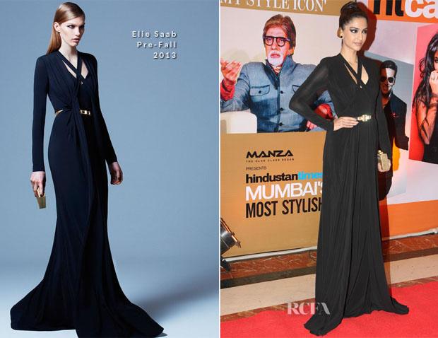 Sonam Kapoor Elie Saab PF13 - Hindustan Times Style Awards 2013