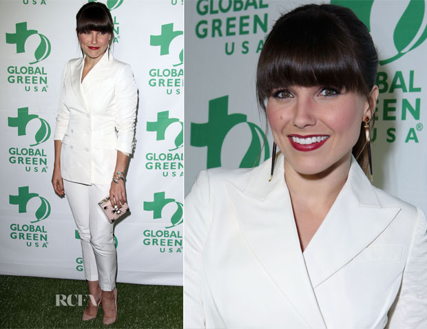 Sophia Bush In H&M Conscious - Global Green USA's 10th Annual Pre-Oscar Party