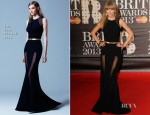 Taylor Swift In Elie Saab - 2013 Brit Awards