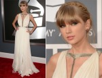 Taylor Swift In J. Mendel - 2013 Grammy Awards