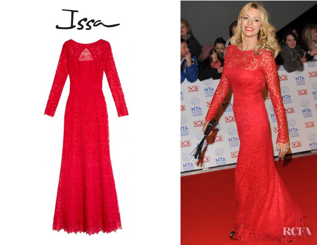 Tess Daly's Issa Lace Maxi Dress