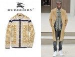 Tinie Tempah's Burberry Prorsum Slim Fit Printed Shirt