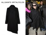 Vanessa Hudgens' All Saints 'Turnlock Monument' Coat