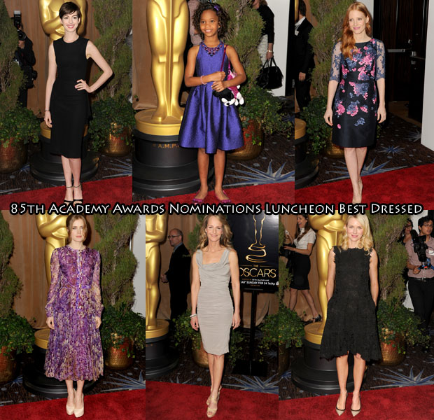 Who Was Your Best Dressed At The 85th Academy Awards Nominations Luncheon