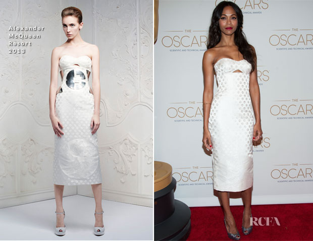 Zoe Saldana In Alexander McQueen - Academy Of Motion Picture Arts And Sciences' Scientific & Technical Awards