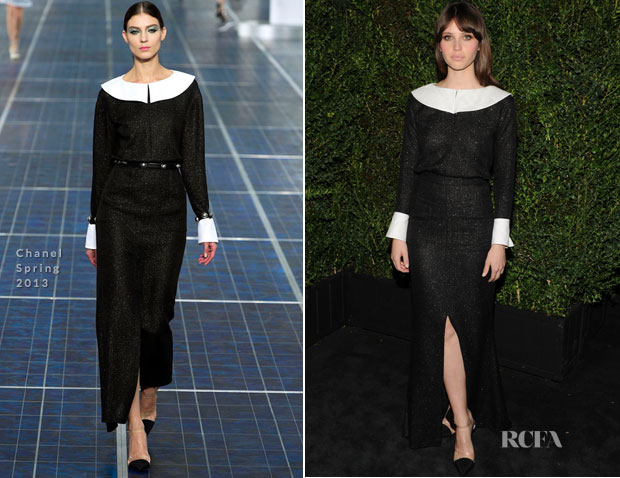 Felicity Jones In Chanel - 2013 Chanel Pre-Oscar Dinner
