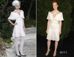 Jessica Chastain In Chanel – 2013 Chanel Pre-Oscar Dinner