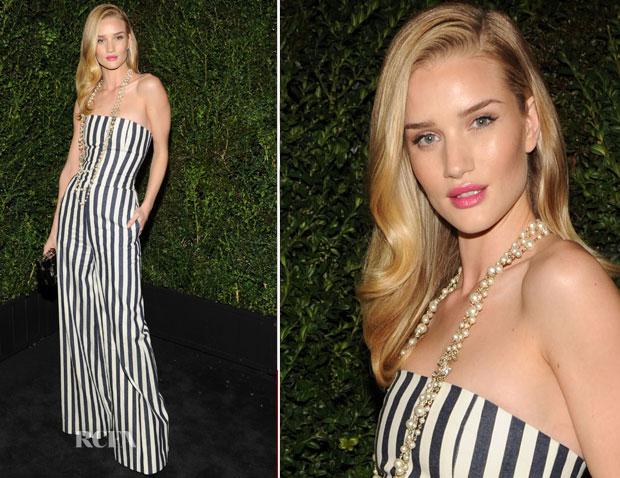 Rosie Huntington Whiteley In Chanel - 2013 Chanel Pre-Oscar Dinner