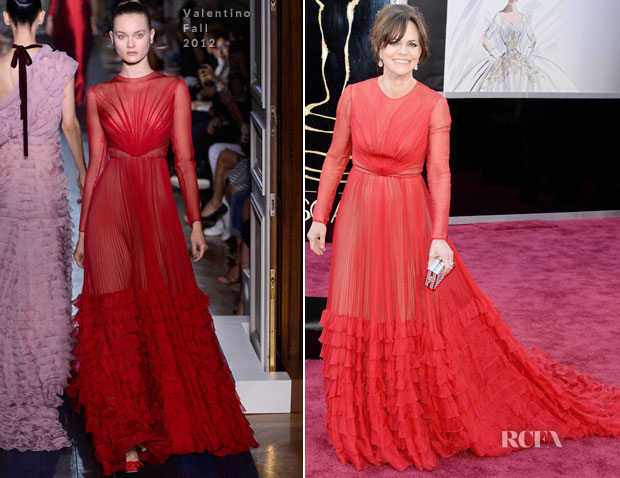 Sally Field In Valentino – 2013 Oscars - Red Carpet Fashion Awards