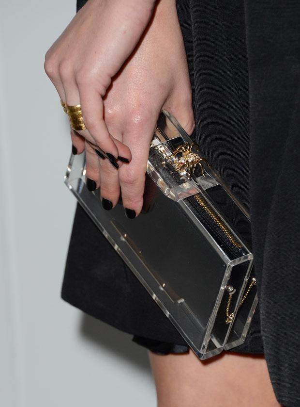 Elisabeth Moss' Charlotte Olympia 'Pandora' box clutch