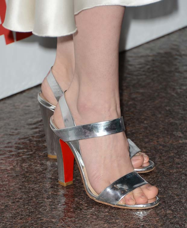 January Jones's Christian Louboutin sandals