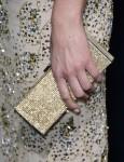 Adrianne Palicki's Daniel Swarovski gold crystal Lana box clutch