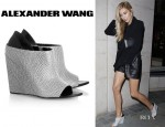 Abbey Crouch's Alexander Wang 'Alla' Wedge Booties