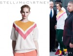 Alicia Keys' Stella McCartney Chevron Mesh Sweater