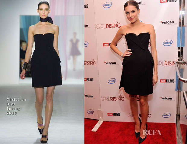 Allison Williams In Christian Dior - 'Girl Rising' New York Premiere