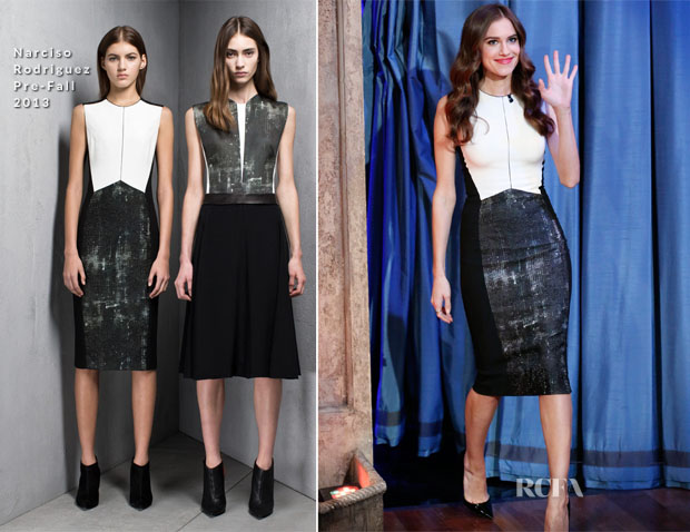 Allison Williams In Narciso Rodriguez - Late Night with Jimmy Fallon