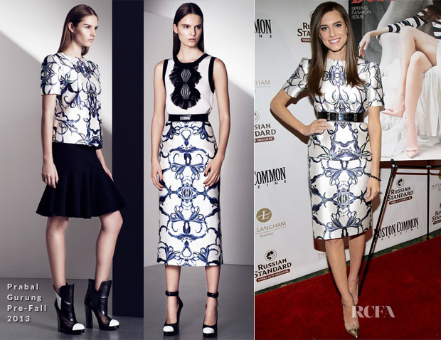Allison Williams In Prabal Gurung - Boston Common Magazine Cover Party
