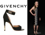 Amanda Seyfried's Givenchy 'Shark Lock' Suede Sandals