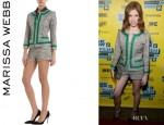 Anna Kendrick's Marissa Webb 'Juliana' Tweed Jacket And Marissa Webb 'Juliana' Tweed Shorts
