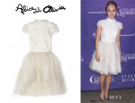 AnnaSophia Robb's Alice + Olivia 'Gwen' Embellished Dress