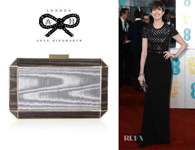 Anne Hathaway's Anya Hindmarch 'Duke' Box Clutch