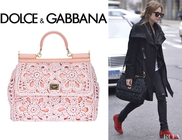 Ashley Benson S Dolce Gabbana Miss Sicily Tote
