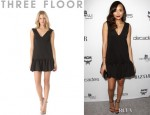 Ashley Madekwe's Three Floor Flare Neoprene Dress