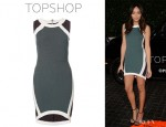 Ashley Madekwe's Topshop Mixed Texture Bodycon Dress