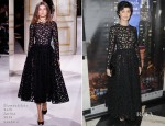 Audrey Tautou In Giambattista Valli Couture - 'Populaire' New York Premiere
