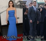 Best Dressed Of The Week - Emilia Clarke In Victoria Beckham and David Beckham