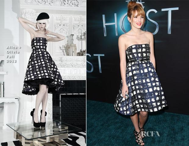 Bella Thorne In Alice + Olivia Fall 2012 - 'The Host' LA Premiere