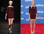 Blake Lively In Marios Schwab - 'The Croods' New York Premiere
