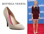 Blake Lively's Bottega Veneta Wool Crystal Heel Pumps