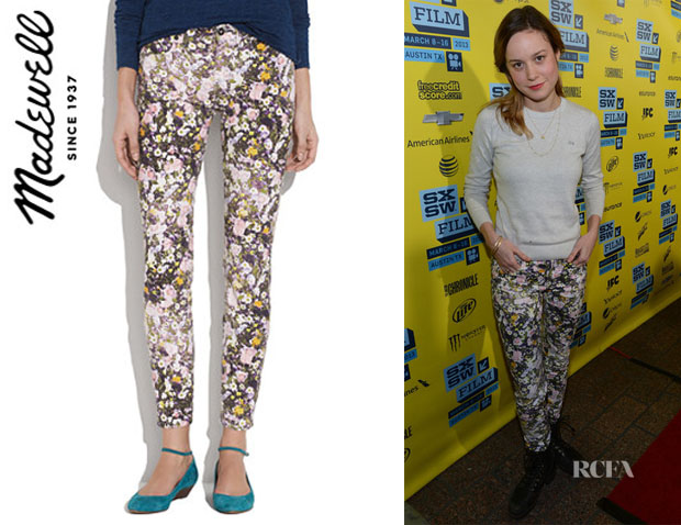 Brie Larson's Madewell Skinny Ankle Jeans