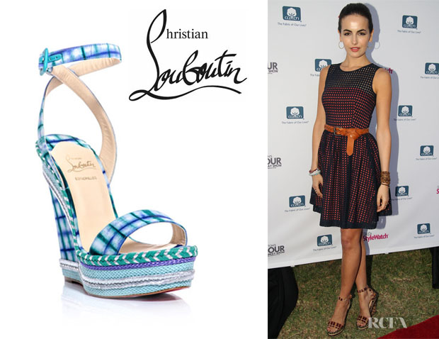 Camilla Belle's Christian Louboutin 'Duplice' Wedge Sandals