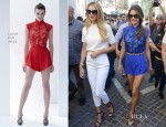 Candice Swanepoel & Alessandra Ambrosio In Visit 'Extra'