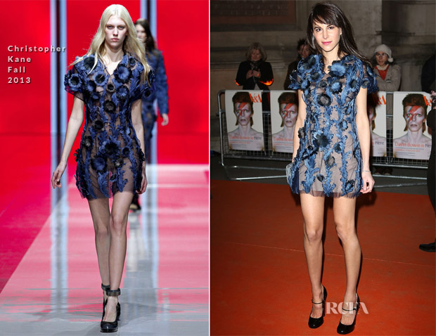 Caroline Sieber In Christopher Kane F13 - 'David Bowie Is' Exhibition Private Viewing