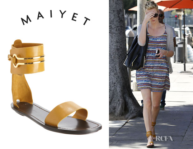 Charlize Theron's Maiyet Ankle Cuff Sandals