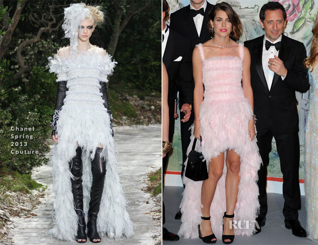 Charlotte Casiraghi & Princess Caroline In Chanel Couture - Bal de la Rose du Rocher