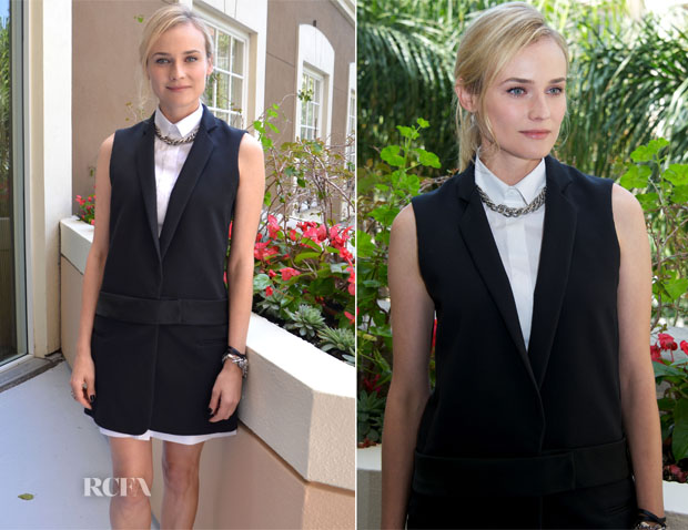 Diane Kruger In Victoria Beckham - 'The Host' LA Press Conference