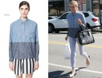 Diane Kruger In Zara & Adriano Goldschmied - Joan On The Third