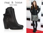 Elizabeth Olsen's Rag & Bone 'Kinsey' Leather Ankle Boots