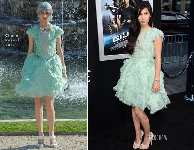 Elodie Yung In Chanel - 'GI Joe Retaliation' LA Premiere