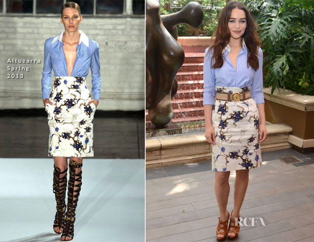 Emilia Clarke In Altuzarra - 'Game of Thrones' Press Conference